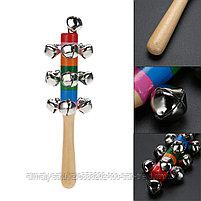 Деревянные бубенцы  (погремушка,музыкальный инструмент), фото 3