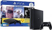 PlayStation 4 Slim 1Tb ( Detroit: Become Human + Horizon Zero Dawn + Одни из Нас)