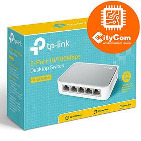 5-портовый 10/100 Мбит/с настольный коммутатор. Tp-Link Hub 5 port. Арт.1398
