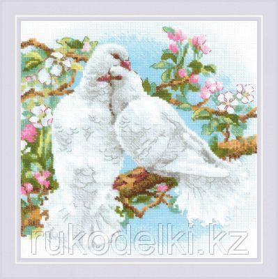 """Набор для вышивания крестом """"Белые голуби"""""""