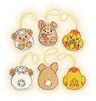 """Набор для вышивания крестом """"Пасхальный кролик и его друзья"""", фото 1"""