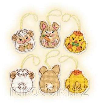 """Набор для вышивания крестом """"Пасхальный кролик и его друзья"""""""