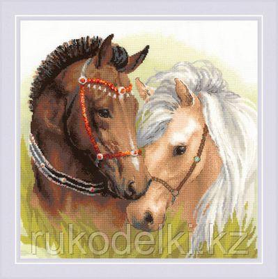 """Набор для вышивания крестом """"Пара лошадей"""""""