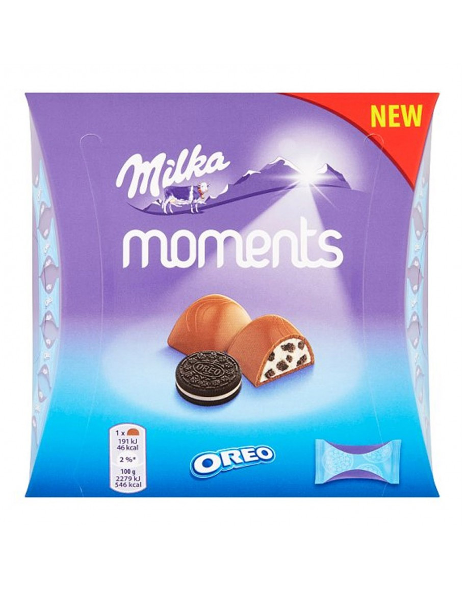 Конфеты Milka Moments Oreo 92гр (16шт-упак)