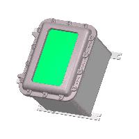 Взрывозащищенная коробка ЩОРВ362821-О2515 с окном (взрывонепроницаемая оболочка)