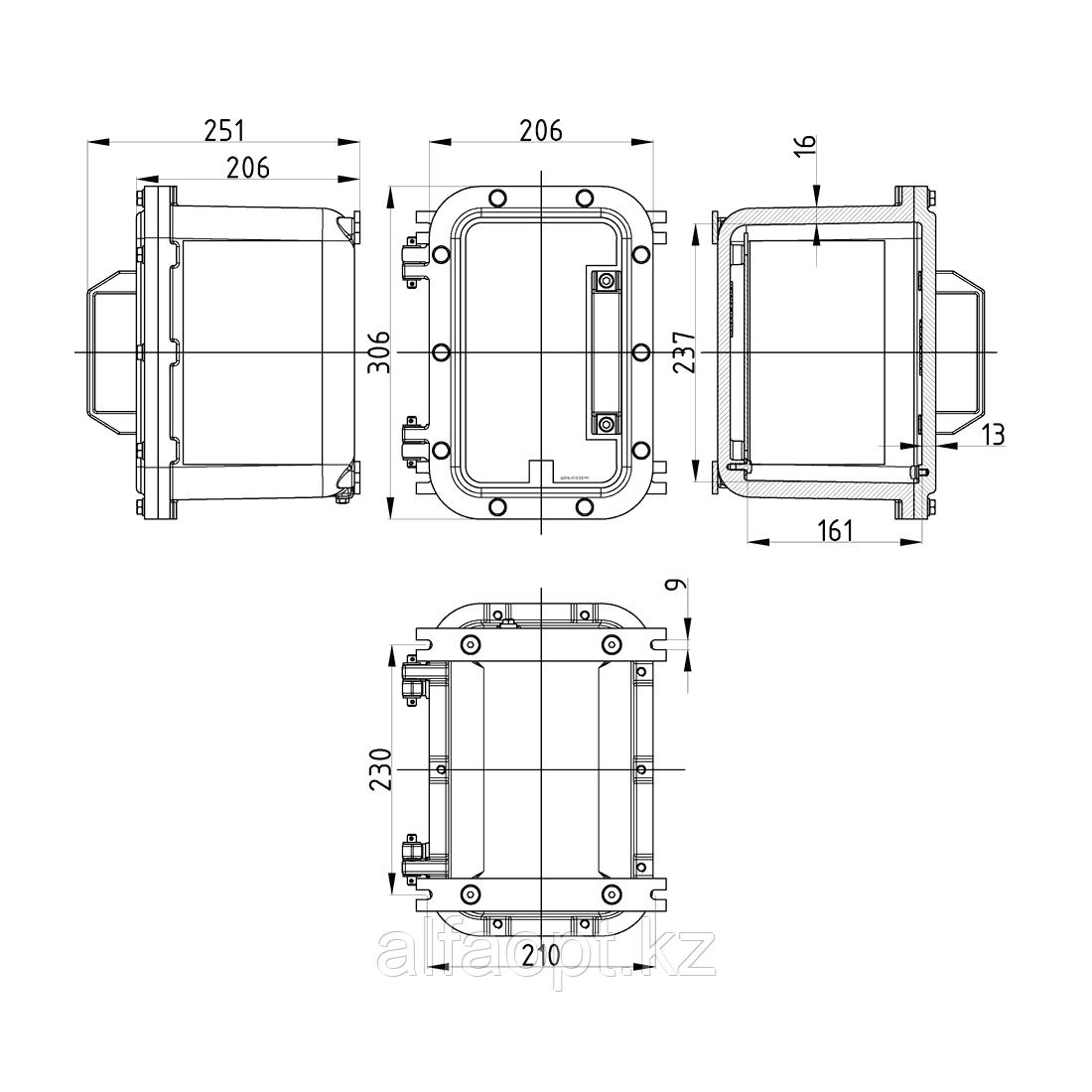 Взрывозащищенная коробка ЩОРВ-Н312120 (взрывонепроницаемая оболочка) из нержавеющей стали