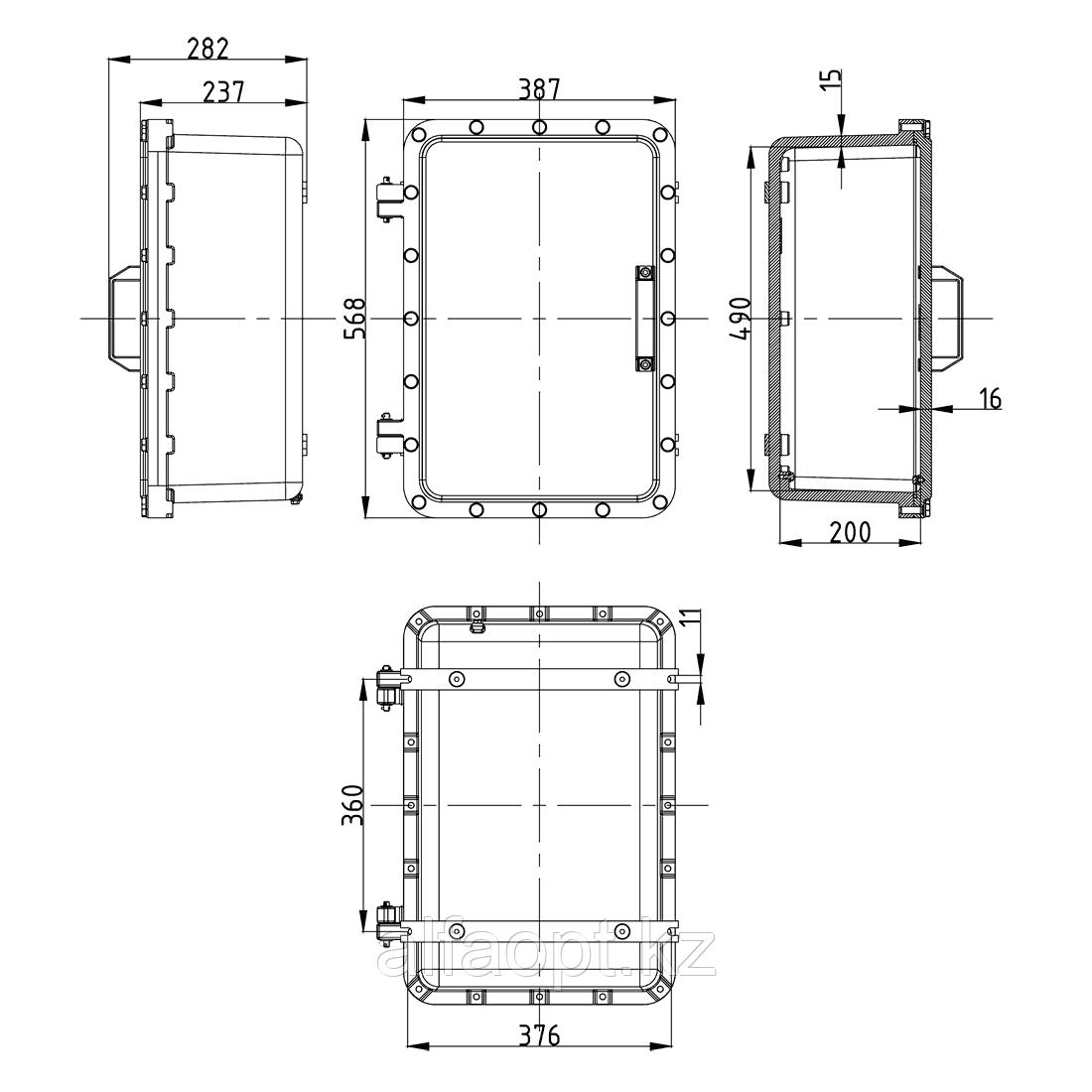 Взрывозащищенная коробка ЩОРВ-Н563823 (взрывонепроницаемая оболочка) из нержавеющей стали