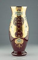 Ваза 40см красная Pytel (JN Glass, Чехия)