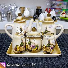 Чайный набор посуды (сервиз). Материал: Керамика. Цвет: Разные цвета. Набор: 6 предметов.