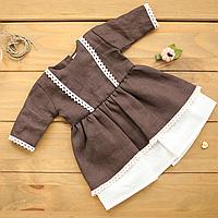 Одежда для куклы Baby Born (Беби Борн) и Baby Annabell (Беби Аннабель), платье для коллекционной куклы Красный