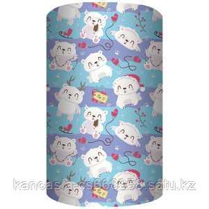 Non-branded Упаковочная бумага, Белый Мишка, 70*100 см.