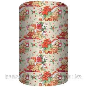 Non-branded Упаковочная бумага, Рождественский Мишка, 70*100 см.