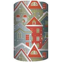 Non-branded Упаковочная бумага супергладкая, целлюлозная, повышенной плотности, Снежные домики, 70*150 см.