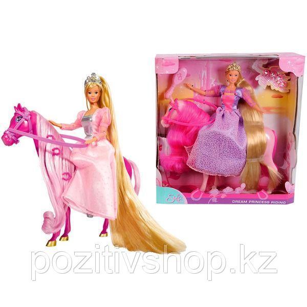 Кукла Simba Штеффи супер длинные волосы+лошадка - фото 1