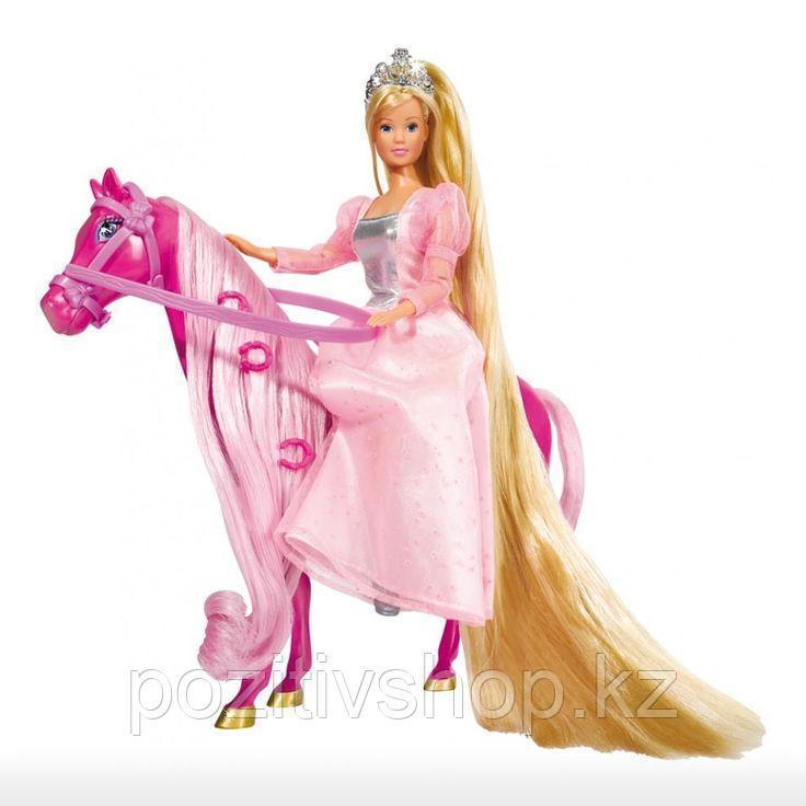 Кукла Simba Штеффи супер длинные волосы+лошадка - фото 2