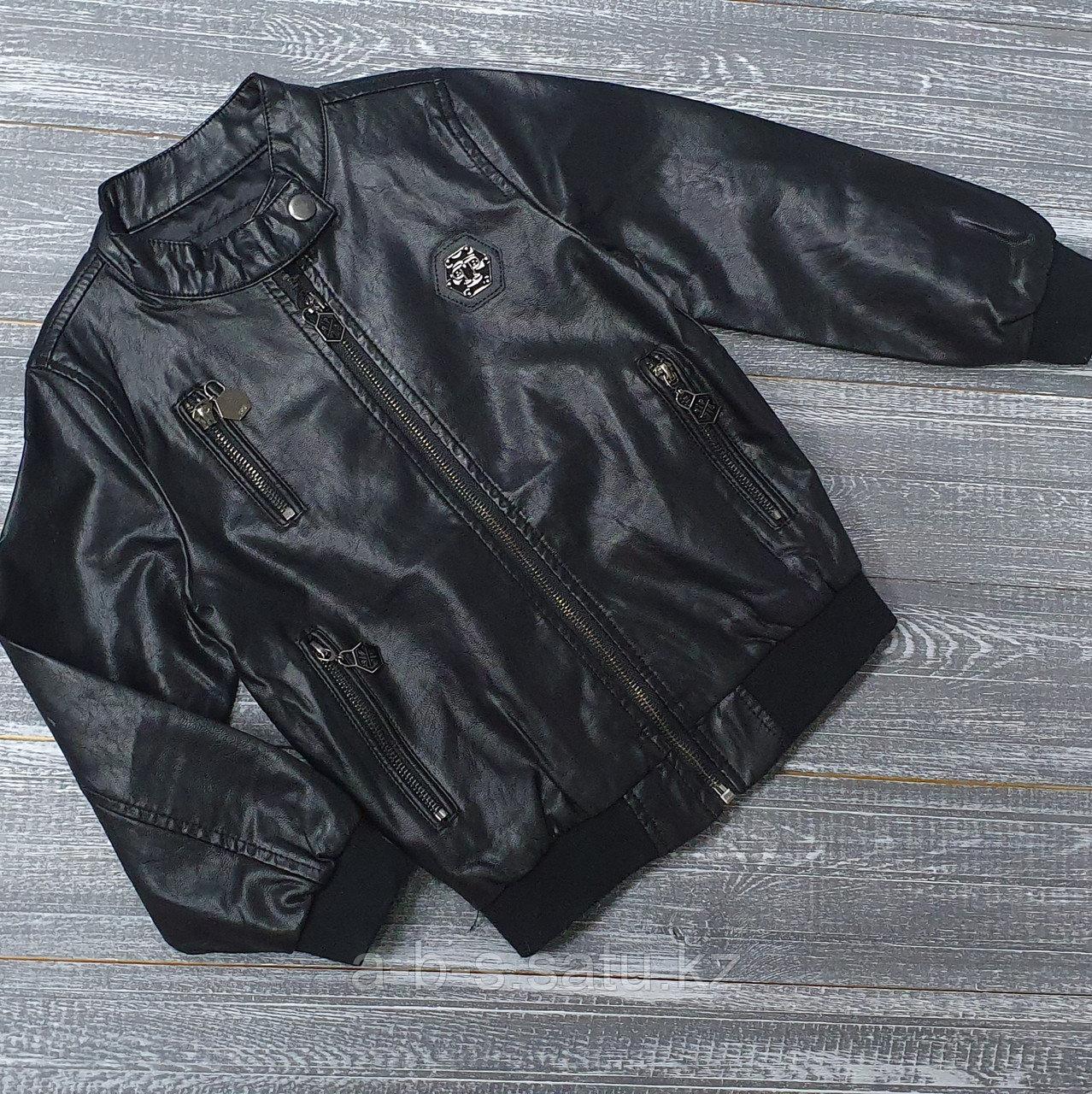 Куртка из экокожи черная Phillip Plein