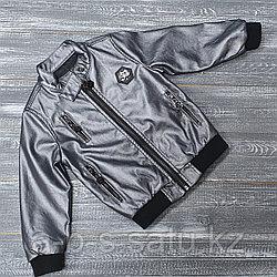 Куртка из экокожи стальная Phillip Plein