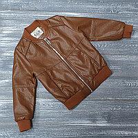 Куртка из экокожи в кирпичной расцветке