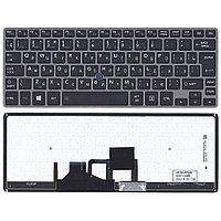 Клавиатура для ноутбука Toshiba Portege Z30 (серая, RU)