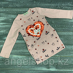 Платье -туничка (сердечки пайетки, с карманами)
