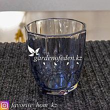 Набор стаканов из цветного стекла. Материал: Стекло. Цвет: Синий. Набор: 6шт.