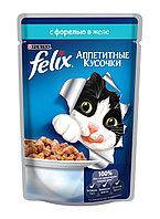 Felix, Феликс кусочки с форелью в желе для кошек, уп.26*85гр