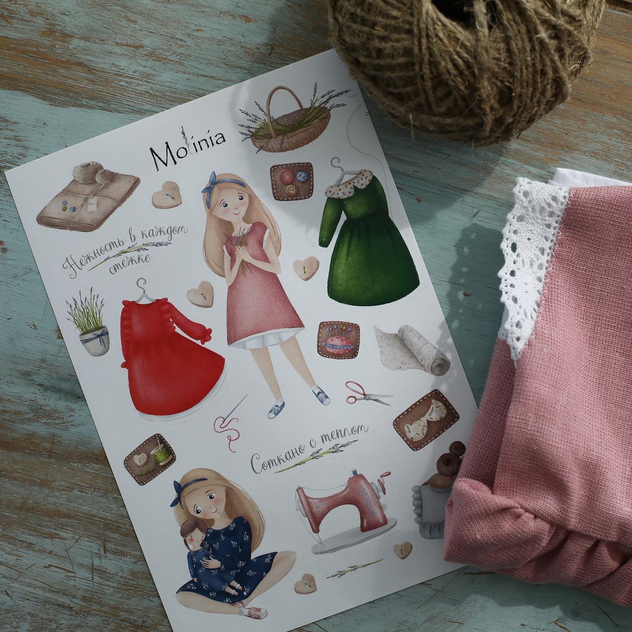 Льняное платье для девочек шоколадного цвета с белым кружевом - фото 7