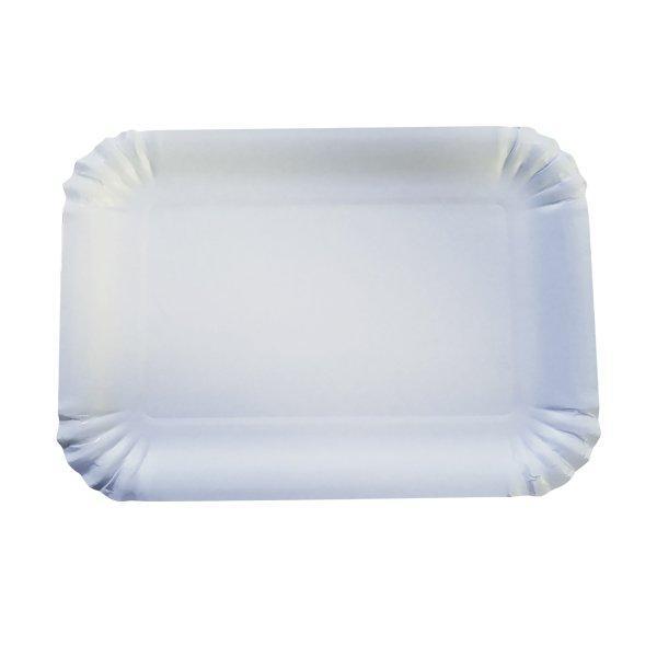 Тарелка 170х240мм, белая, картон, 600 шт