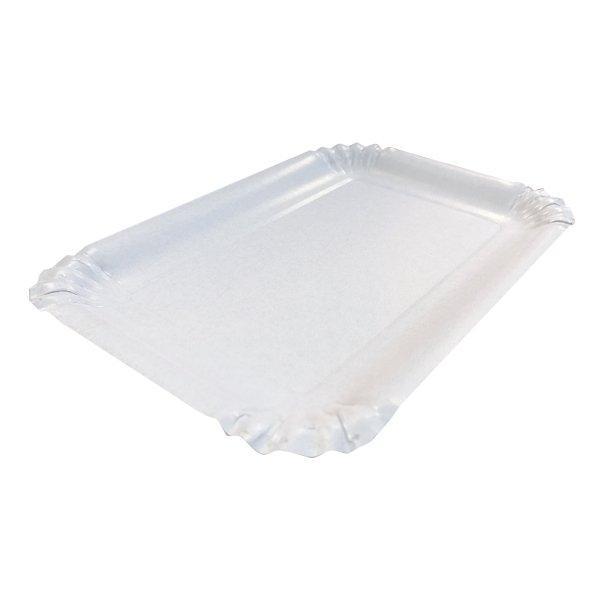 Тарелка 170х240мм, ламинированная, белая, картон, 600 шт