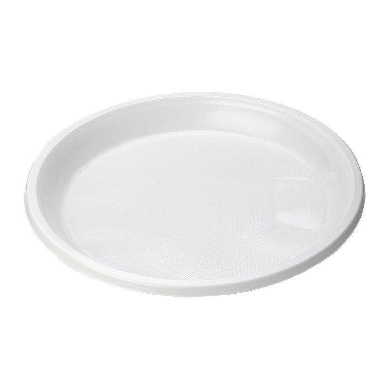 Тарелка d 205мм, бел., ПС, 12 шт