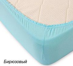 Простынь на резинке из трикотажной ткани от Текс-Дизайн (160х200 см / Ментол), фото 2