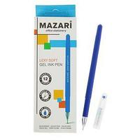Ручка гелевая Lexy soft, узел 0.5 мм, синяя, игольчатый пишущий узел в форме кристалла, покрытие soft