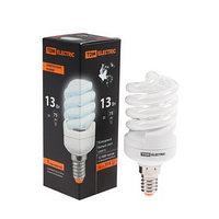 Лампа энергосберегающая TDM КЛЛ-FSТ2 'КОМПАКТ', Е14, 13 Вт, 4000 К, 41 х 100 мм