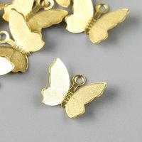 Подвеска 'Бабочка', цвет латунь (комплект из 20 шт.)