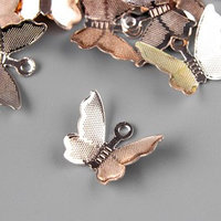 Подвеска 'Бабочка', цвет розовое золото (комплект из 20 шт.)