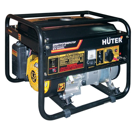 Портативный бензогенератор HUTER DY3000L (2,5 кВт) ручной стартер