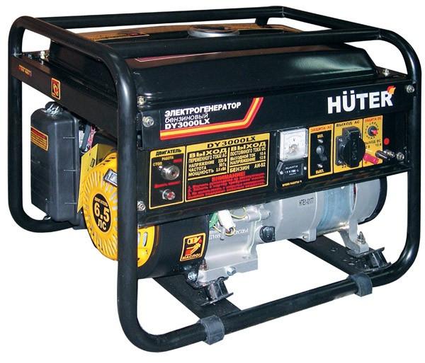 Портативный бензогенератор HUTER DY3000LX (2,5 кВт) ручной и электростартер
