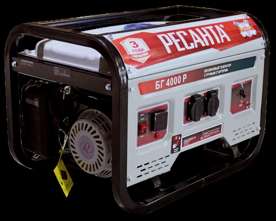 Электрогенератор БГ 4000 Р Ресанта (3 кВт) ручной стартер