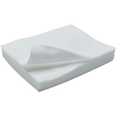 Безворсовые одноразовые салфетки  из спанлейса (белые) 20х20 см. 100 шт/упк.
