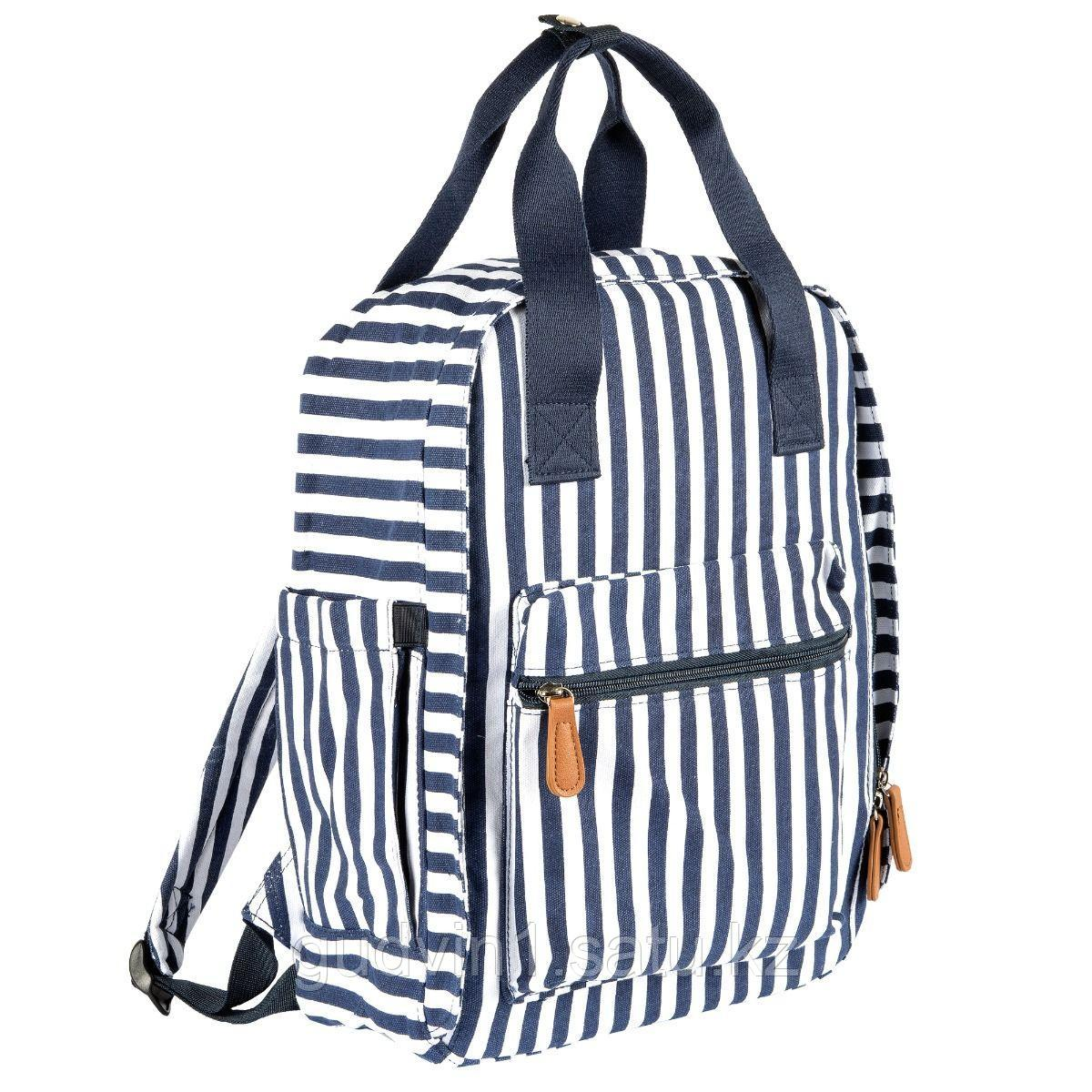Chicco: Сумка-рюкзак для мамы в полоску син/бел  1160008