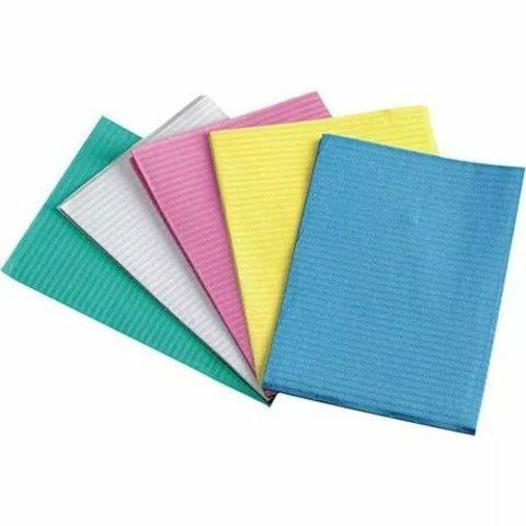 Стоматологические ламинированные салфетки (бумага + полиэтилен) 125шт./уп  33x45 см