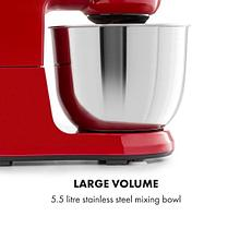 Металлическая кухонная машина Bella Robusta 1200 Вт 6 уровней 5,5 литров, фото 3
