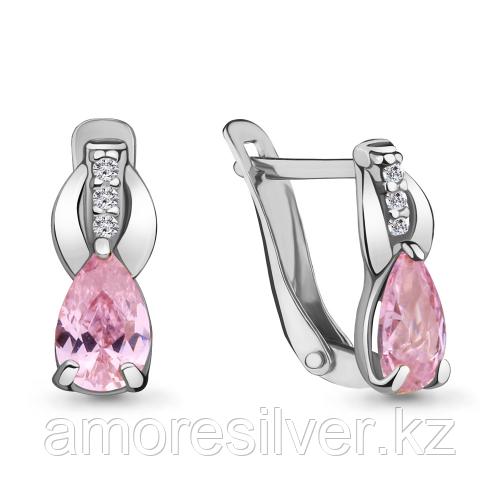 Серебряные серьги с фианитом   Aquamarine 46865В.5