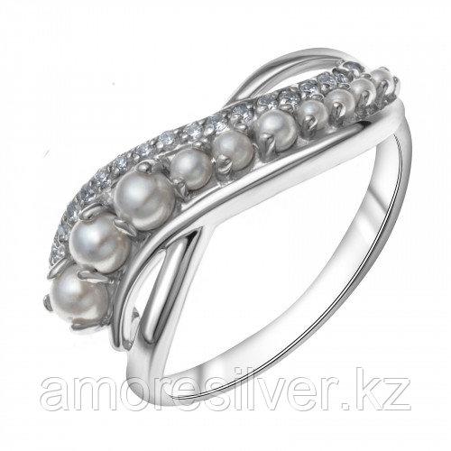 Кольцо из серебра с жемчугом и фианитом swarovski  TEOSA 17 - есть комплект