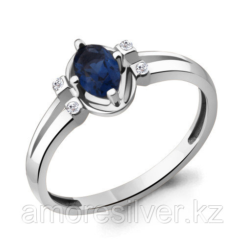 Кольцо из серебра с фианитом  AQUAMARINE 17 - есть комплект