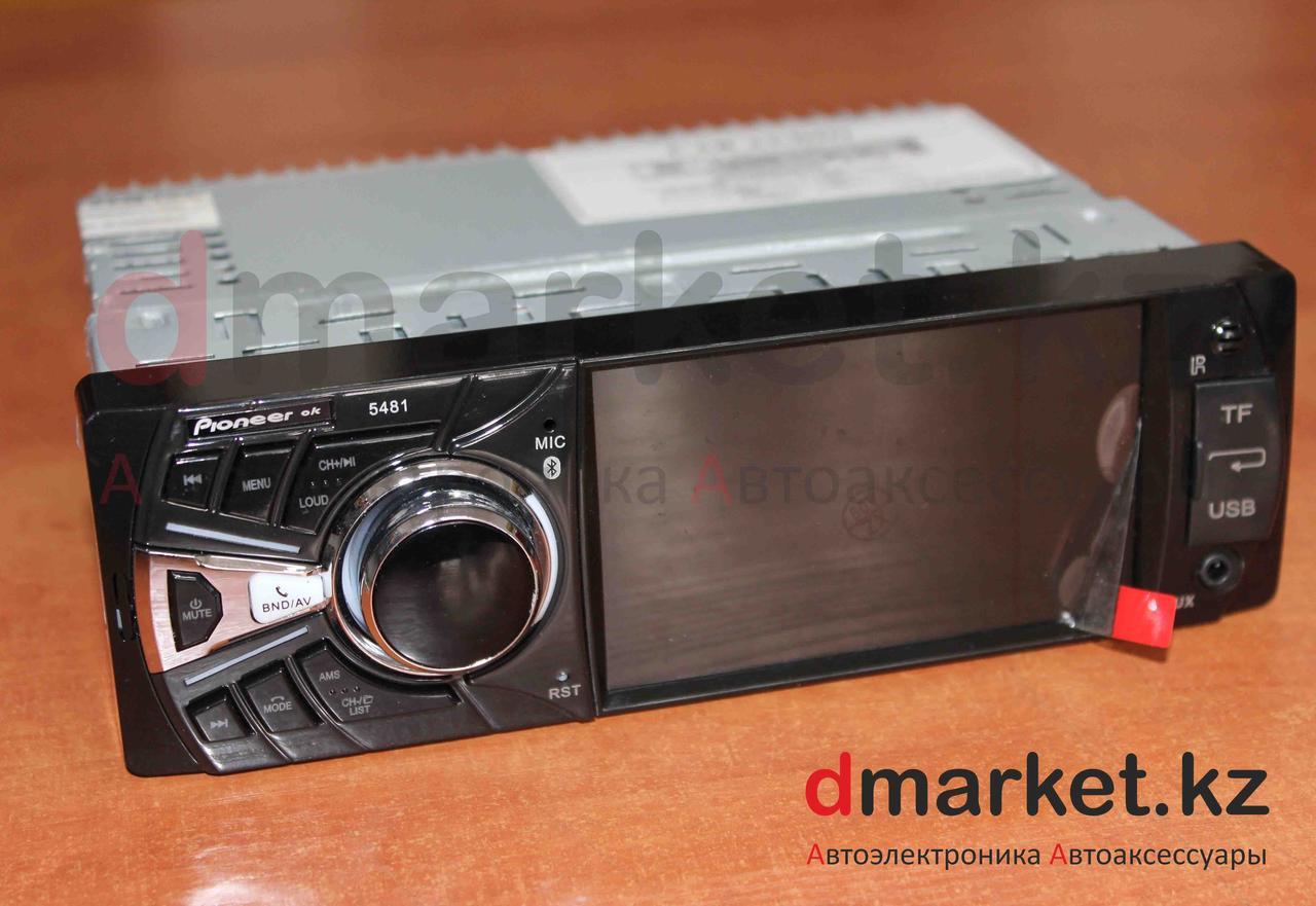 Автомагнитола 1DIN MVH-5481, экран 4 дюйма, радио, USB, Bluetooth, MP3, AUX, камера