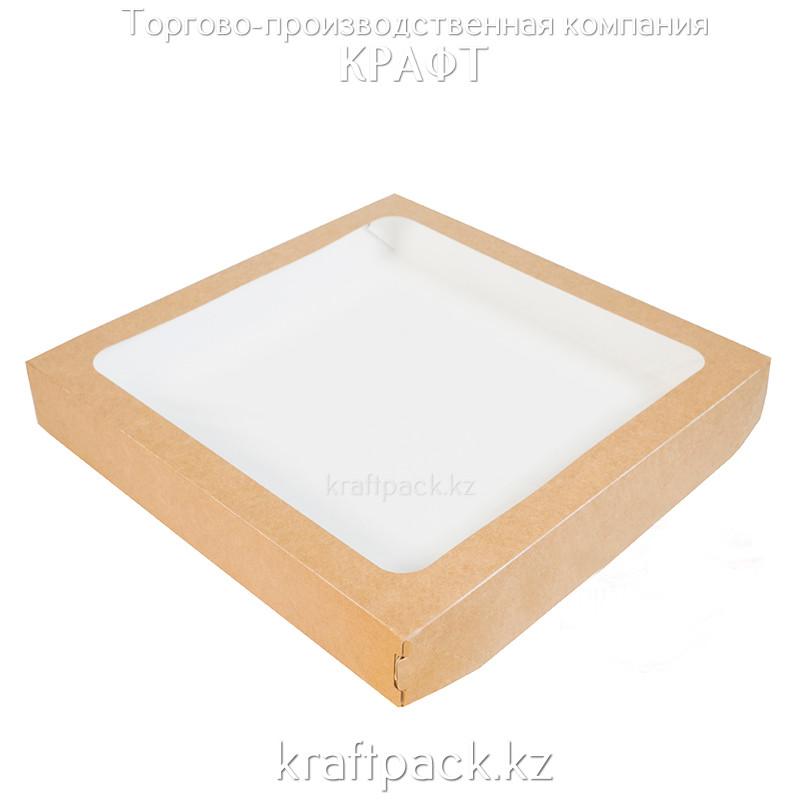 Коробка с окном 2500 мл 260*260*40 (Eco Tabox 2500) DoEco (25/150)
