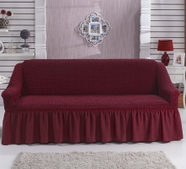 """Чехол для дивана""""BULSAN"""" трехместный, жатка с юбкой, фото 2"""