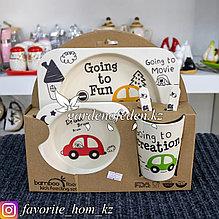 Набор детской посуды, с декором. Материал: Керамика. Цвет: Разные цвета. Набор: 5 предметов.