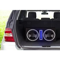"""Активный автомобильный сабвуфер 2 x 25 см (10 """") 2100 Вт LED, фото 2"""